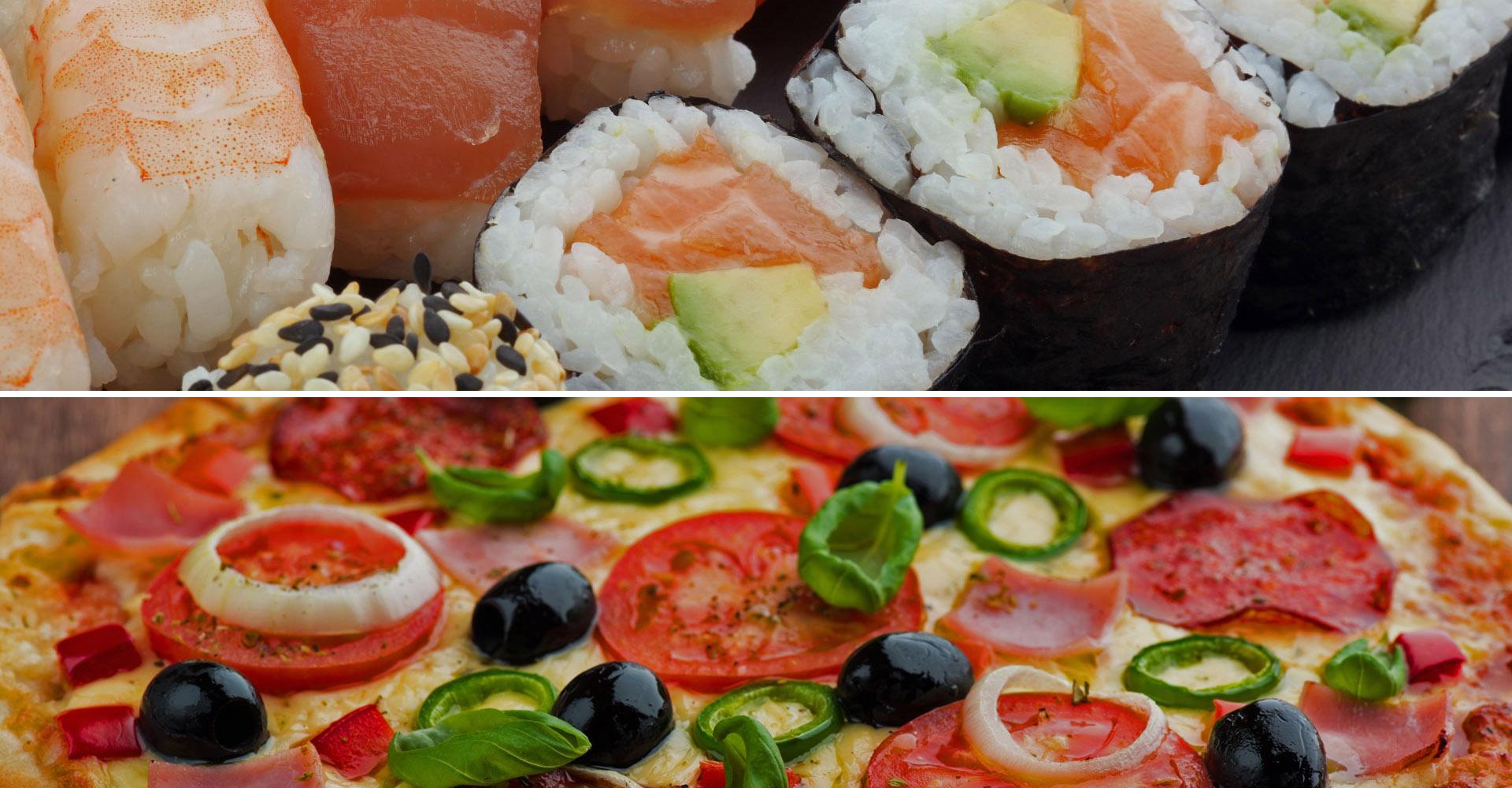 Доставка суши и пиццы от нашего партнера Kenga
